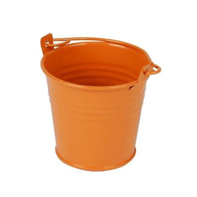 <h4>Bucket Sevilla zinc Ø6,3xH5,7cm ES5,5 orange gloss</h4>