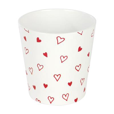 <h4>Pot Dallas Love Story keramiek Ø13xH13cm - ES12</h4>