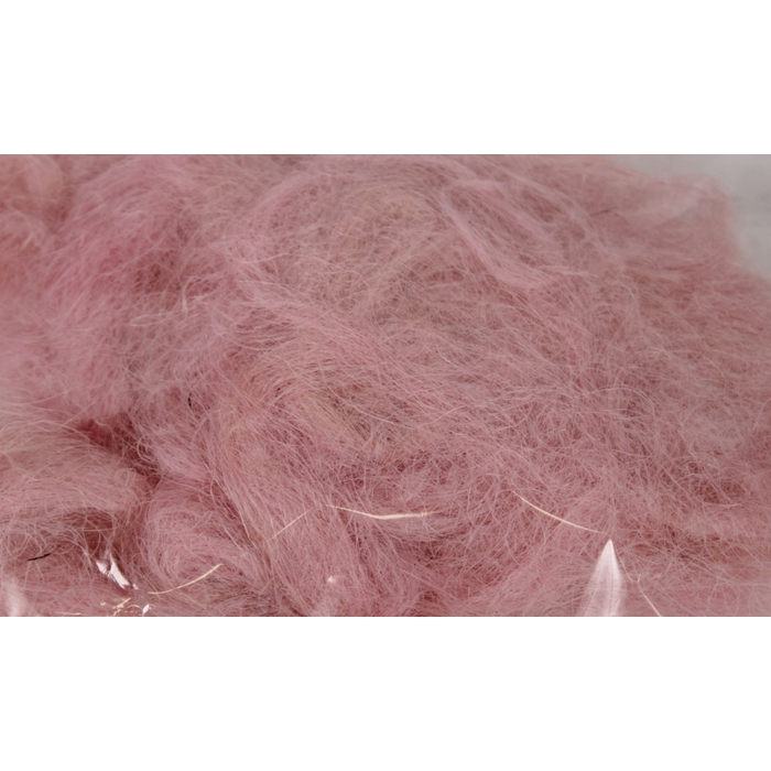 <h4>Fuzzy fibre 100 gram in poly light pink</h4>