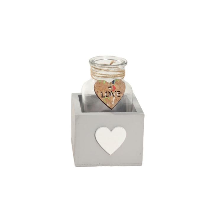 <h4>Glas Bak 1fles hart d6.5*12.5cm</h4>