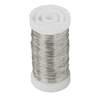 <h4>Myrtendraad 0,3mm zilver klos 100gr</h4>