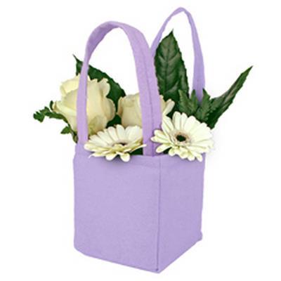 Bag Pastel felt 9,5x9xH11cm lilac