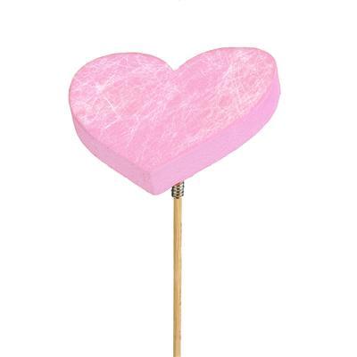 <h4>Pique Heart Fiber mousse 7x7cm sur 50cm bâton rose</h4>