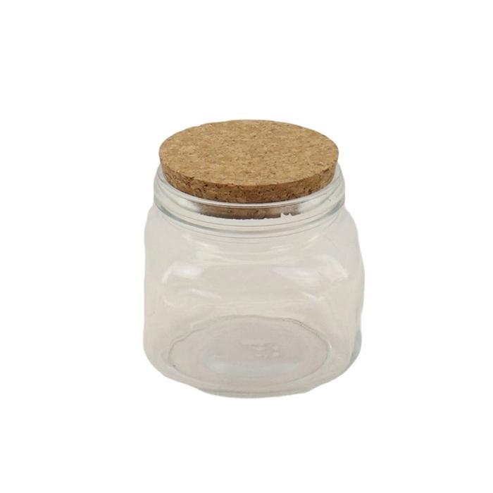 <h4>Glas Fles+kurk d12*12cm</h4>