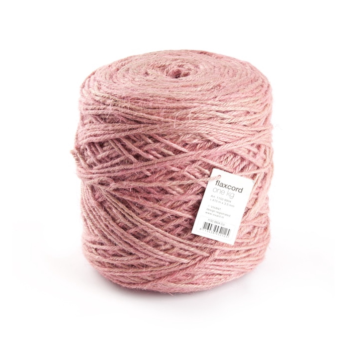 <h4>FLAXCORD 3,5MM 1KG pink</h4>