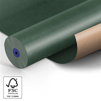 <h4>Papier: 50cm br. kraft 50gr Fond d.groen 400m.</h4>