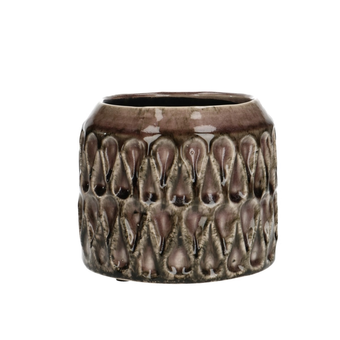 <h4>Ceramics Ribbon pot d15*12cm</h4>