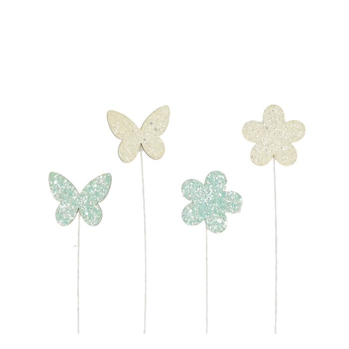 <h4>Bijsteker 20cm Vlinder+bloem</h4>