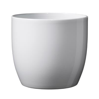 <h4>Pot Basel Céramique Ø16xH15cm blanc brilliant</h4>