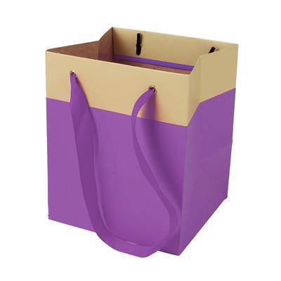 <h4>Bag Facile carton 12,5x11,5xH14,5cm purple</h4>