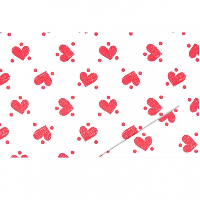 <h4>Cellophane Roll  60cm  50m Heart</h4>