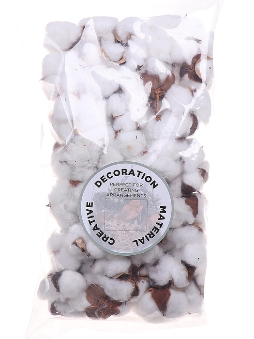 <h4>DF010042100 - Bag/50pcs cotton pods filled</h4>