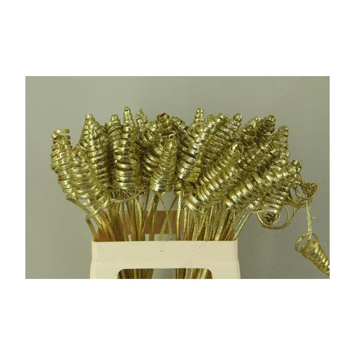 <h4>Stem Cane Cone Gold +glitter</h4>