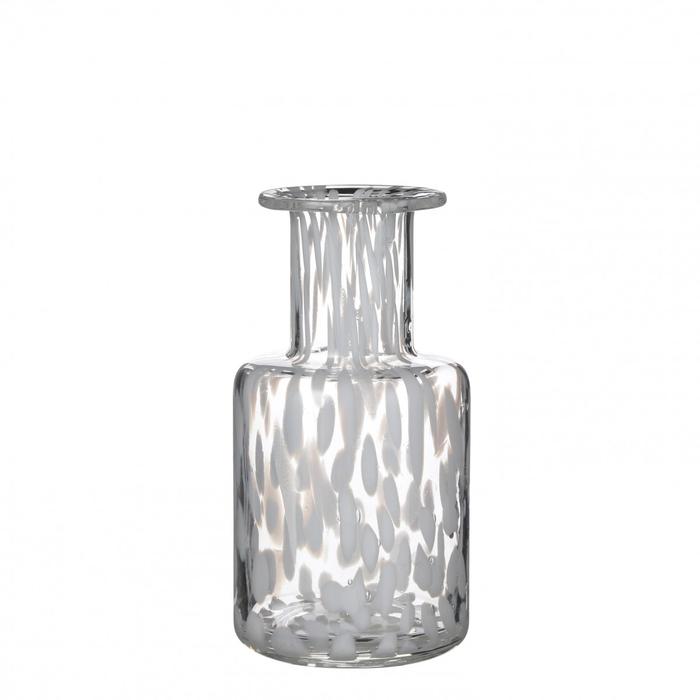 <h4>Glas kleur Spots fles d9*18.5cm</h4>