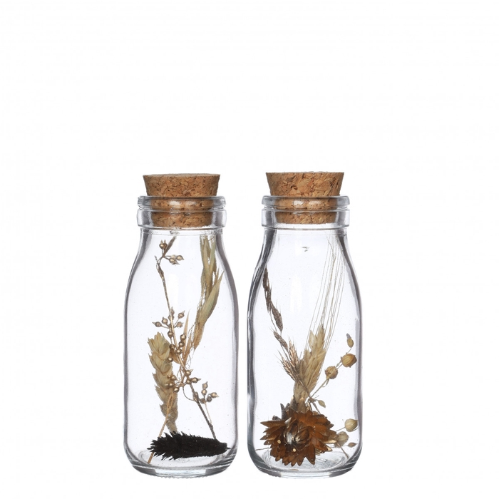 <h4>Dried flowers Glass+dried flower d06*14cm</h4>
