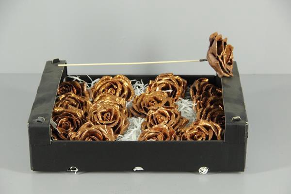 <h4>Wax Rose Copper Glt + Stk 30cm</h4>