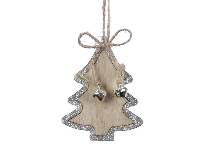 <h4>Kerst Hanger hout boom 07cm x8</h4>