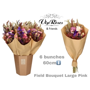 DRIED BOUQUET LARGE PINK