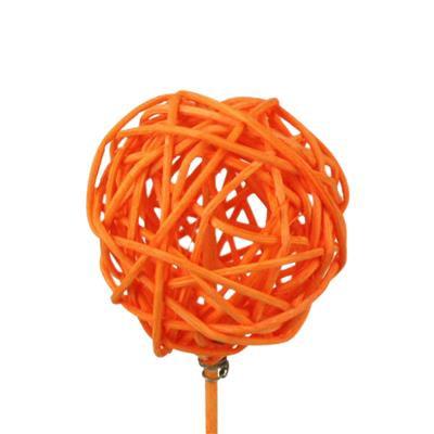 <h4>Bijsteker Bruce ball 5cm+12cm stok oranje</h4>