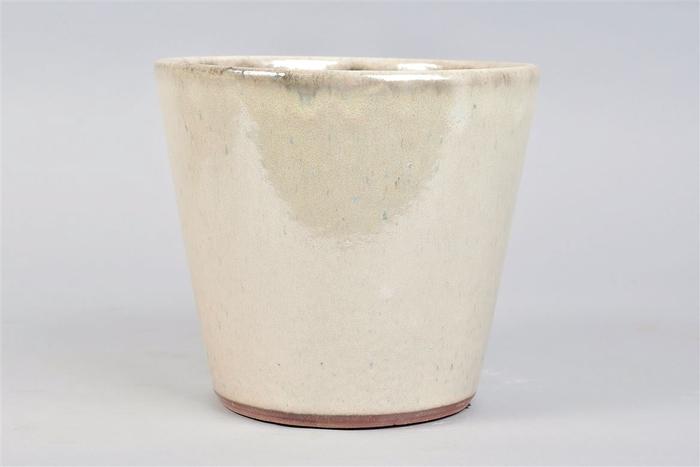 <h4>Alicante Cream Pearl Pot 20x18cm</h4>