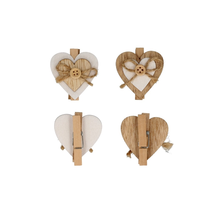 <h4>Valentijn Knijper hart deco 4cm x6</h4>