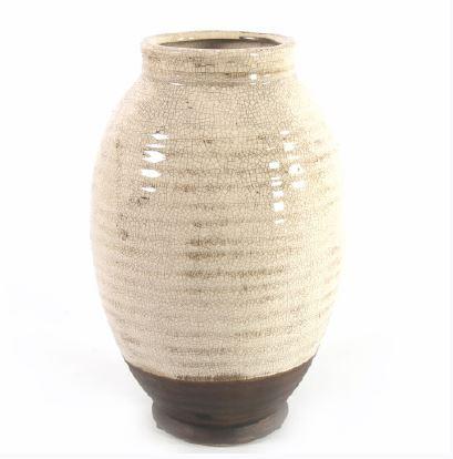 <h4>DF883822500 - Vase Roark cream 34cm</h4>