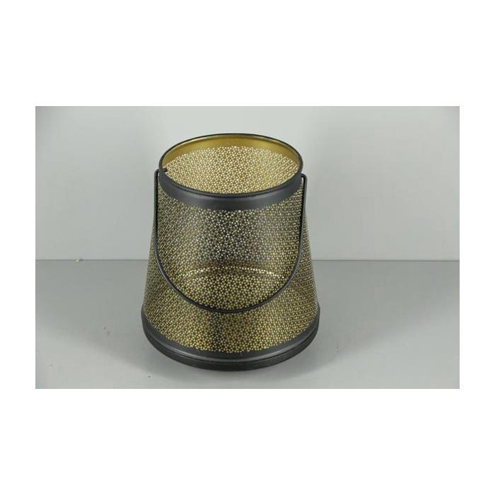 <h4>Lantern Mtl Bucket Blk+hnd 23</h4>