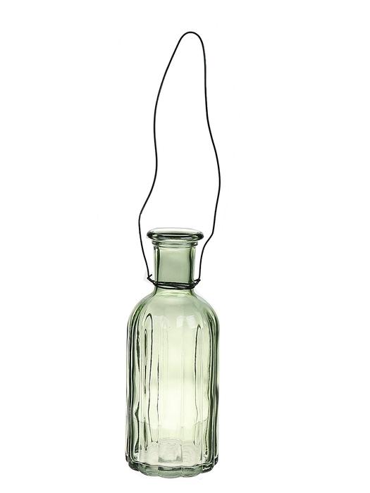 <h4>DF663032200 - Hanging bottle Louvre2 d7.4xh19 l.green</h4>