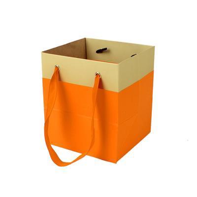 <h4>Bag Facile carton 9,5x9xH11cm orange</h4>