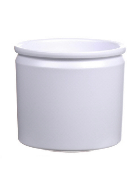 <h4>DF885092447 - Pot Lucca d14xh12.5 white matt</h4>