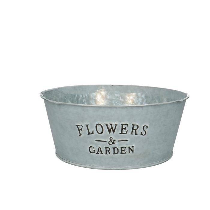 <h4>Zinc Flower&garden bowl d22*9.5cm</h4>