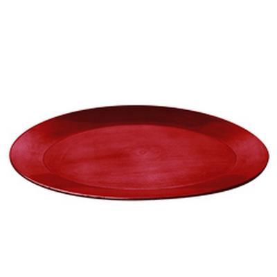 <h4>Bord ovaal plastic 39x29x2,5cm rood</h4>