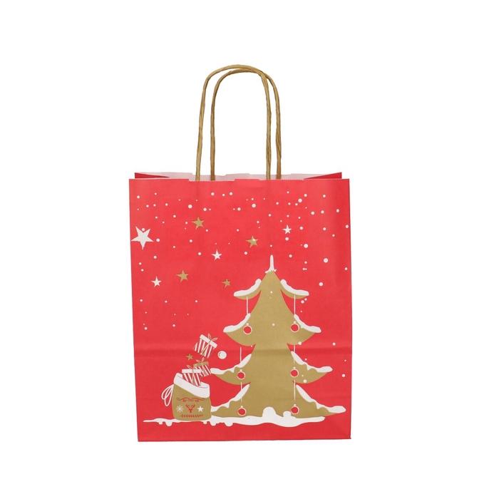 <h4>Christmas Bag deco d18/8*22cm</h4>
