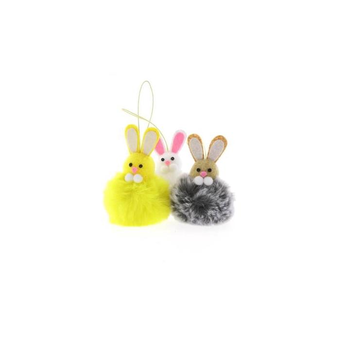 <h4>Rabbit 7x12cm Hanging Mix/3</h4>