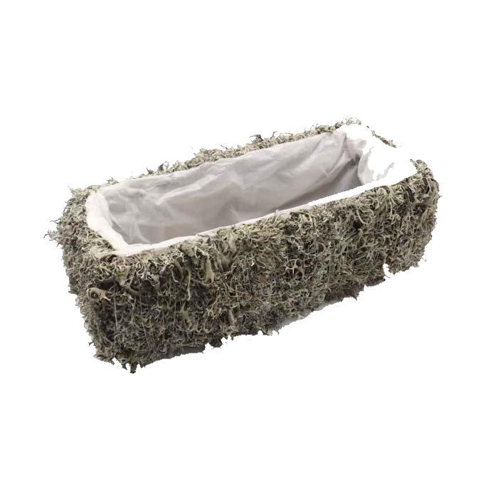 <h4>Planter Grey Moss Rectangular L35 cm B15cm</h4>