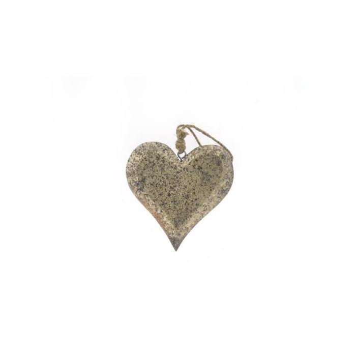 <h4>Heart Wood Hang 15cm Platinum</h4>