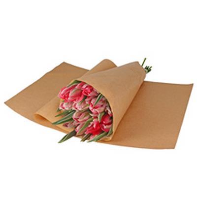 <h4>Papier vel:33x53cm geb. bruin gestreept kraft 50gr</h4>