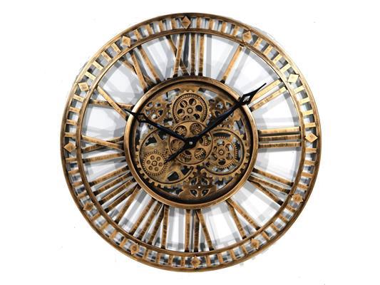 <h4>Clock Gear Open Ø60cm Ant.gold</h4>