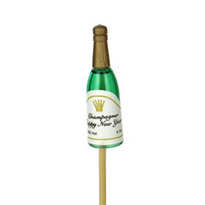 <h4>Bouteille de champagne 5x1cm sur tige de 12cm</h4>
