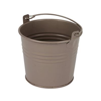 <h4>Bucket Sevilla zinc Ø10,3xH8,5cm - ES9 taupe matt</h4>