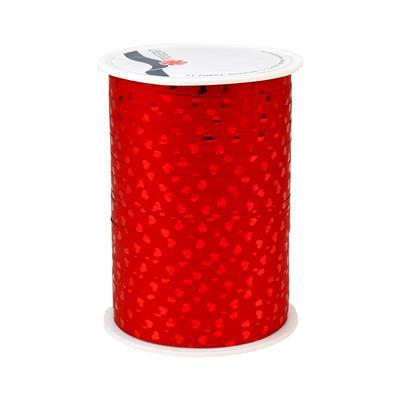 <h4>Krullint 10mm x100m  hartje rood 100% recy</h4>