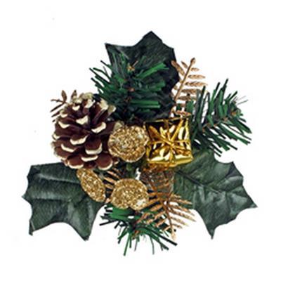 <h4>Noël toef paquet sur tige 50cm or</h4>