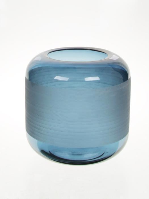 <h4>DF883439300 - Vase Jony d20xh20 navy blue</h4>