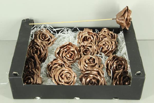 <h4>Wax Rose Copper + Stk 30cm</h4>