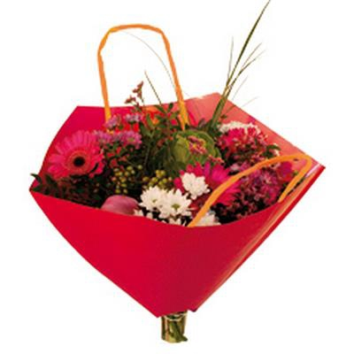 <h4>Bouquetbag Bro-lux 35x35cm paper red</h4>