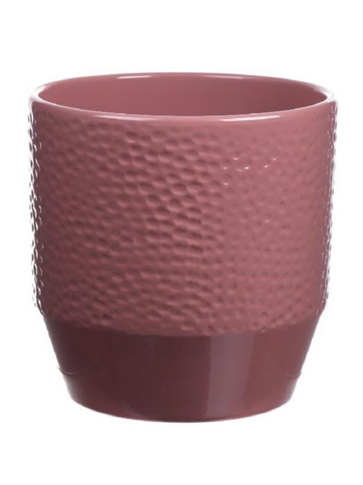 <h4>DF883628047 - Pot Pisa+dots d13.5xh13.2 old pink</h4>