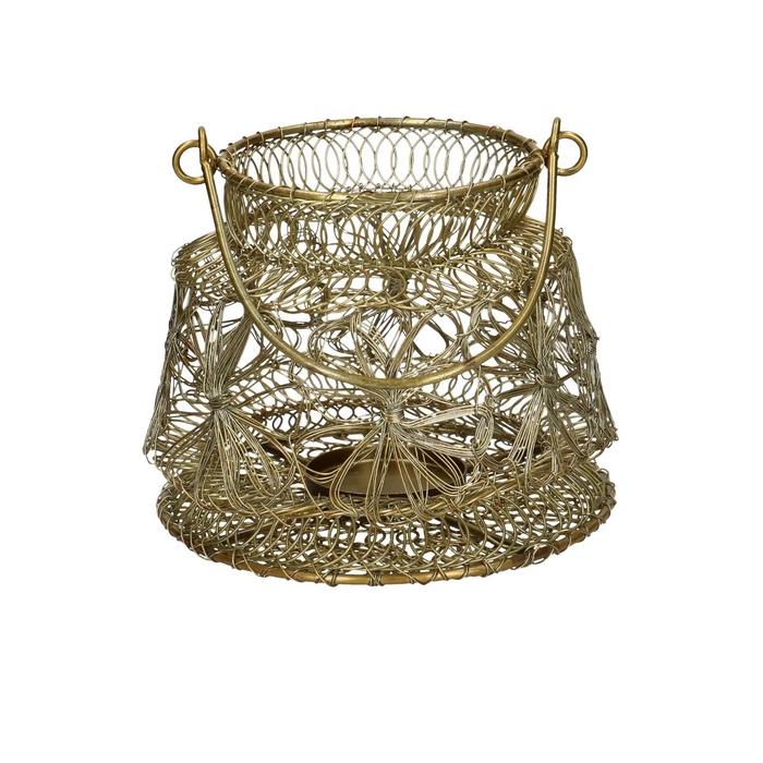 Anika Mosaic Glass Art Medium Ornament Silver Diyas Home