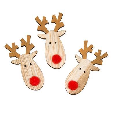 <h4>Kerst Rendier hout deco 6*3cm x36</h4>