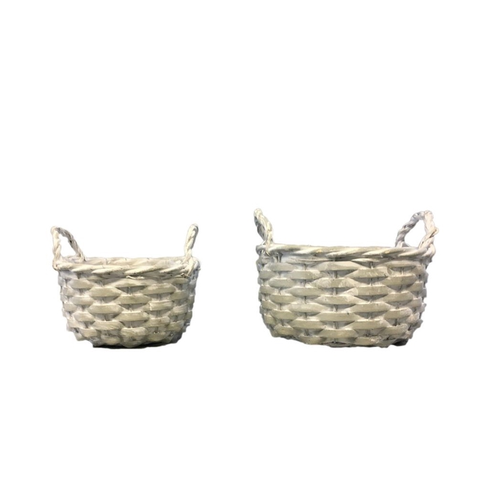 <h4>Baskets Norma tray round S/2 d21*11cm</h4>