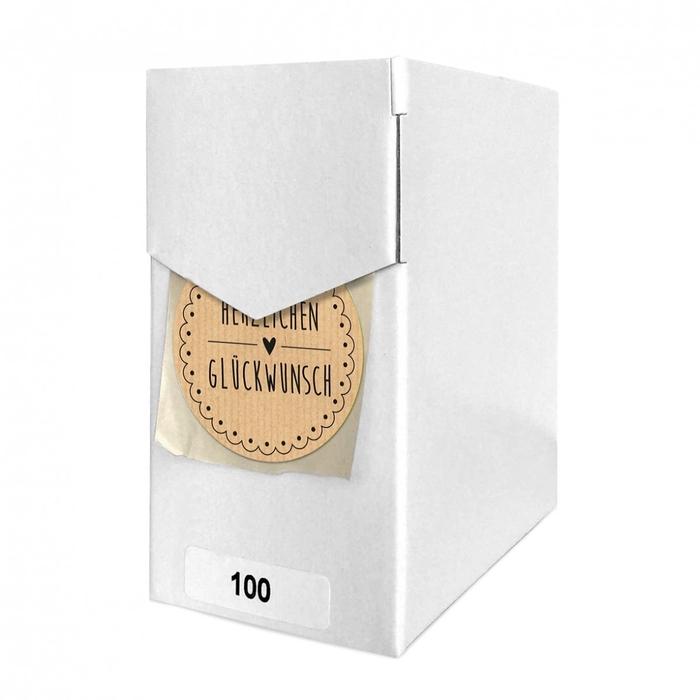 <h4>Labels Sticker 40mm x100 Glückwunsch</h4>